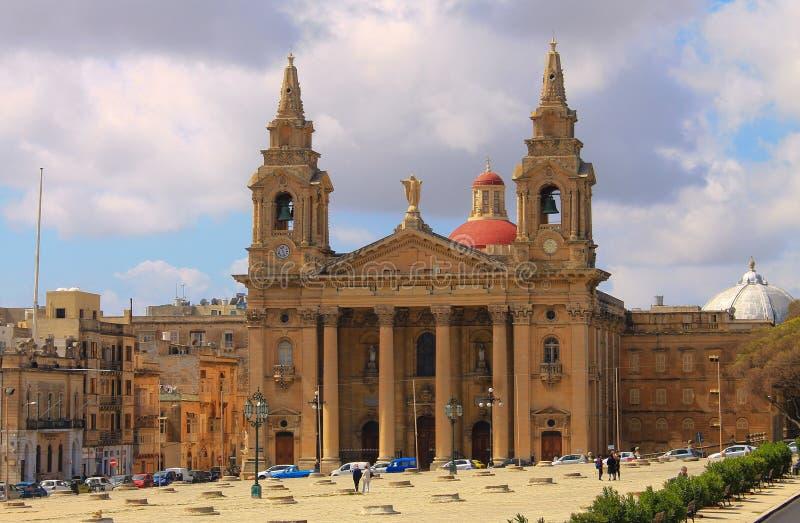 De Granaries Church in Malta royalty-vrije stock fotografie