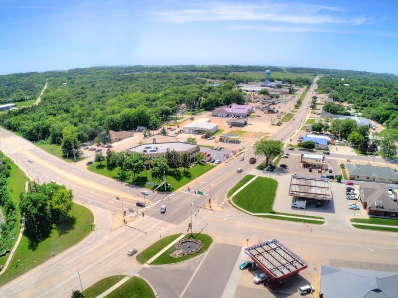 De granietdalingen is een kleine Stad in Landelijk Minnesota stock foto