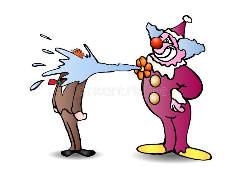 De grap van de clown stock illustratie