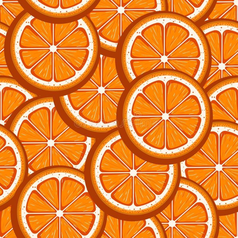 De grapefruit snijdt rode naadloze achtergrond Vector beeld stock illustratie