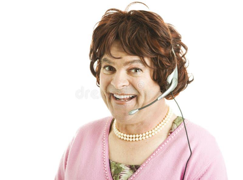 De grappige Arbeider van de Telefoon royalty-vrije stock foto's
