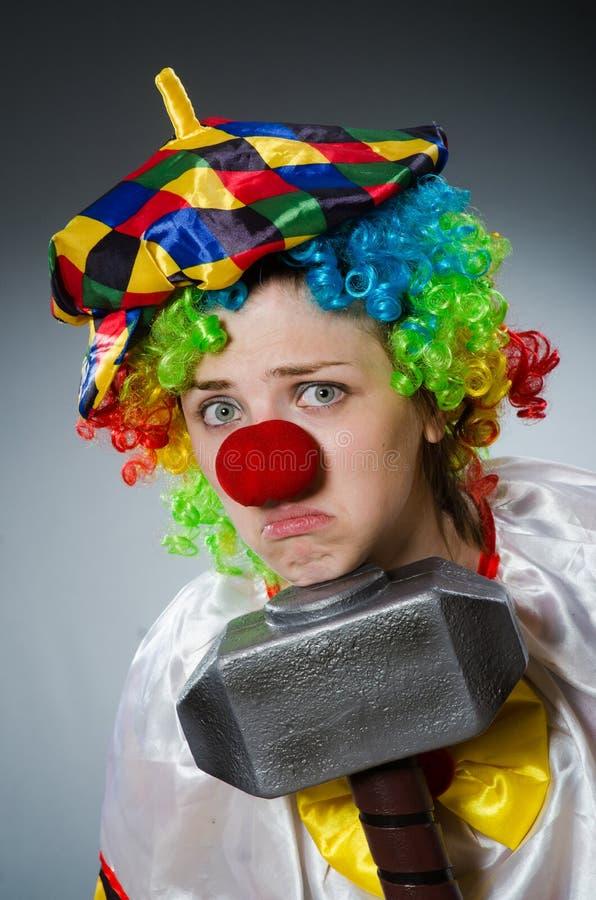De grappige clown in komisch concept royalty-vrije stock foto's