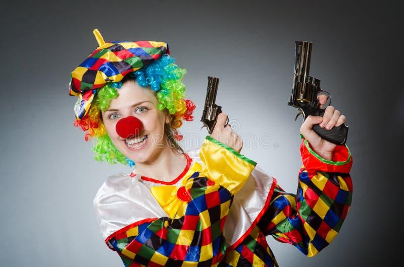 De grappige clown in komisch concept royalty-vrije stock afbeeldingen