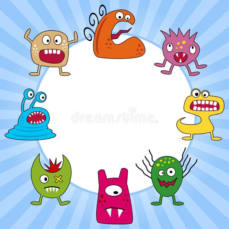 De Grappige Geplaatste Monsters van Halloween vector illustratie