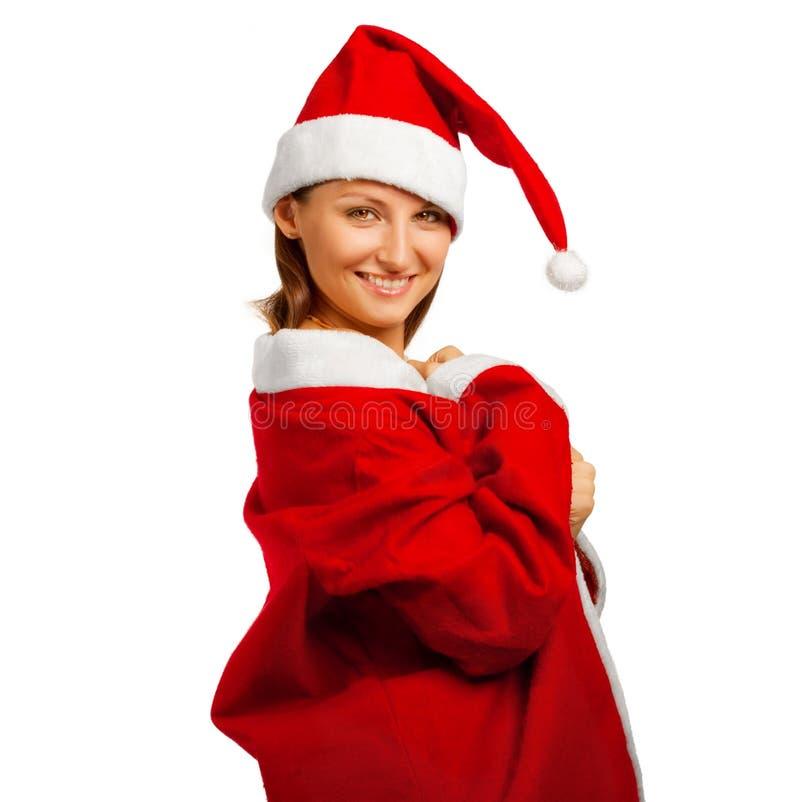 De grappige helper van de Kerstman royalty-vrije stock afbeeldingen