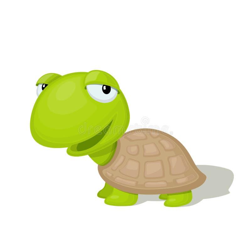 De grappige illustratie van de beeldverhaalschildpad stock illustratie