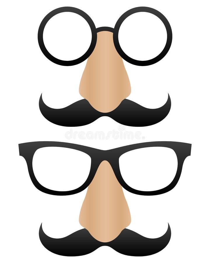 De grappige Maskers van het Beeldverhaal vector illustratie