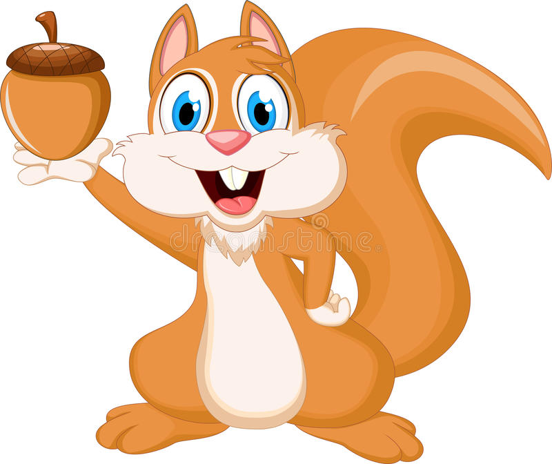 De grappige noot van de eekhoornholding vector illustratie