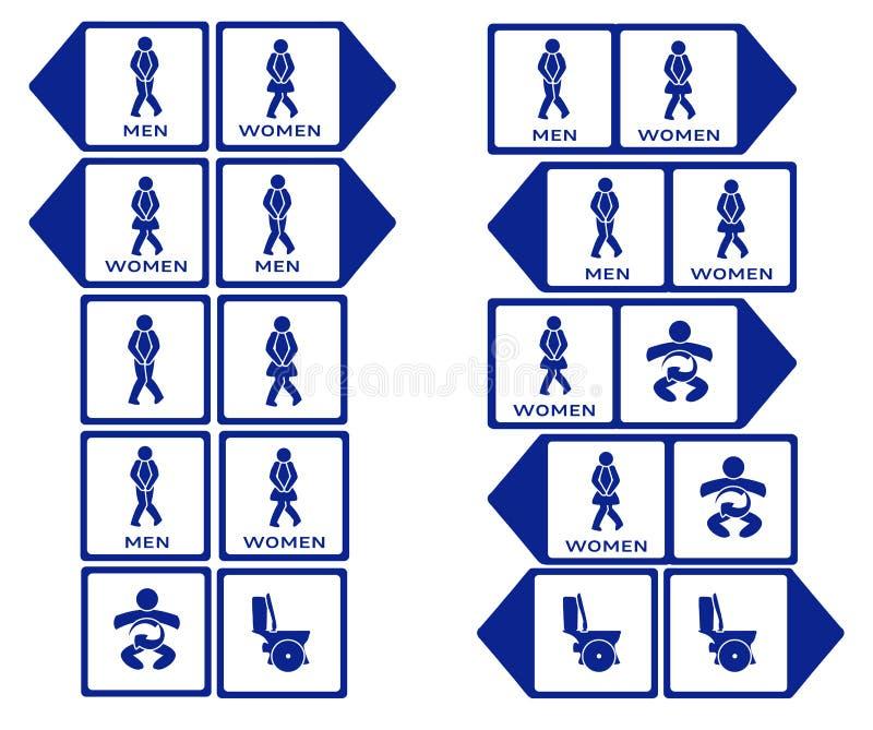 De grappige tekens van WC vector illustratie