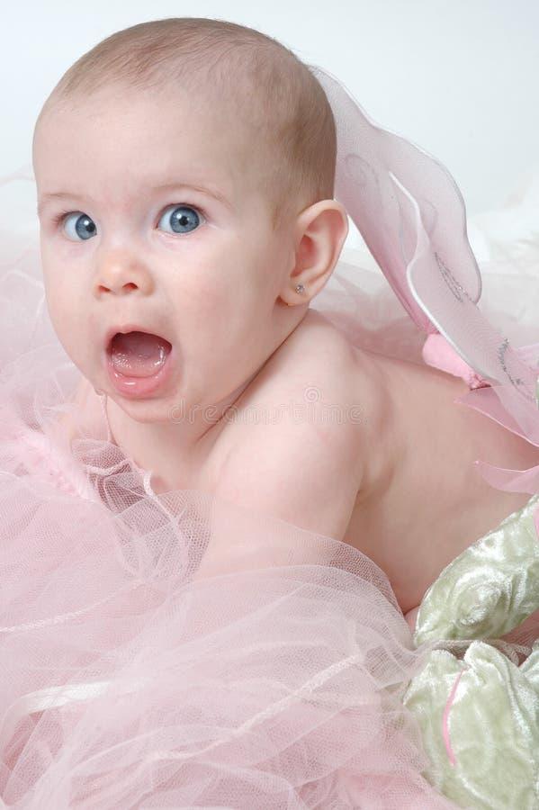 De grappige Uitdrukking van het Gezicht van de Baby stock foto