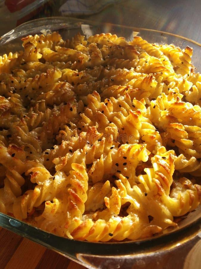De gratin van macaroniau stock foto's