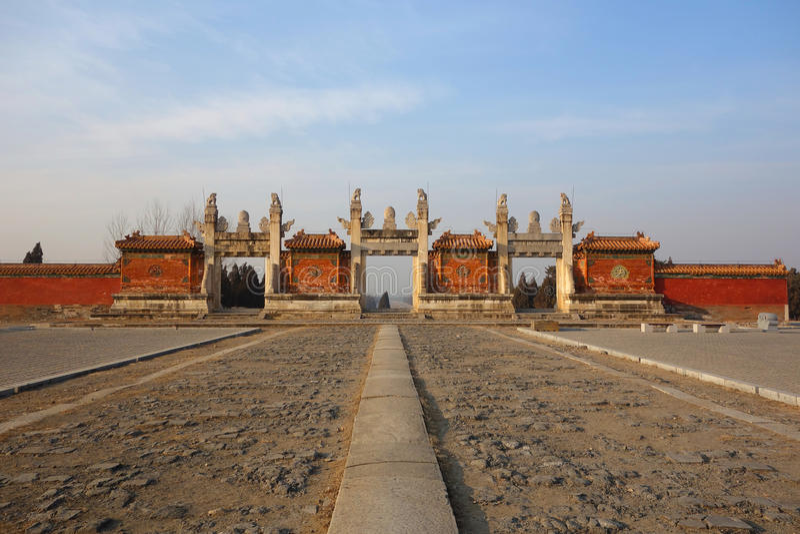 De graven Ming royalty-vrije stock foto's