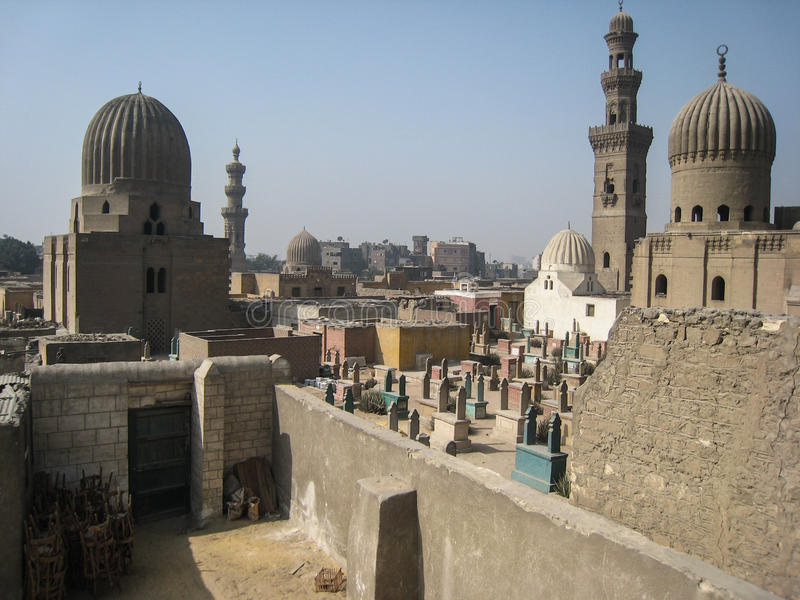 De graven van de Kalieven. Kaïro. Egypte stock foto