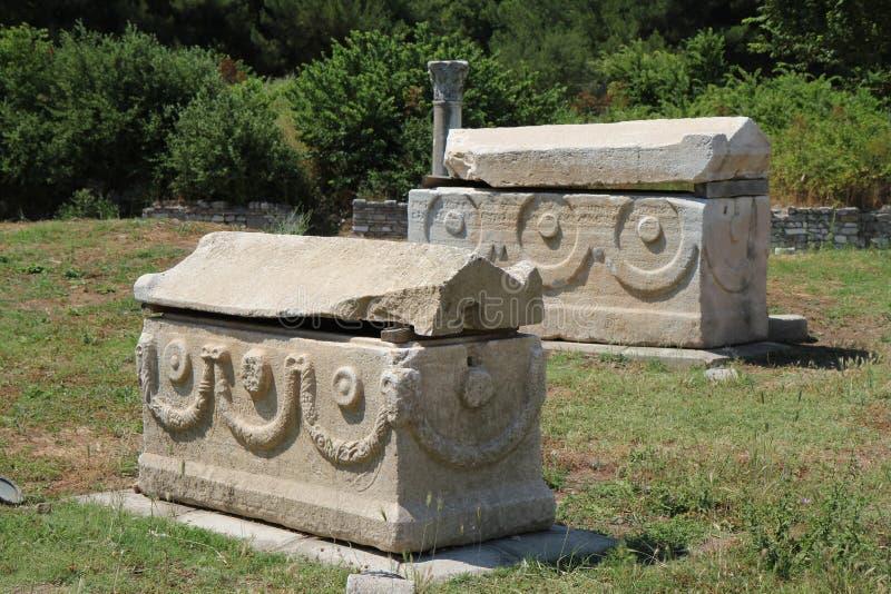 De graven van Ephesus royalty-vrije stock afbeeldingen