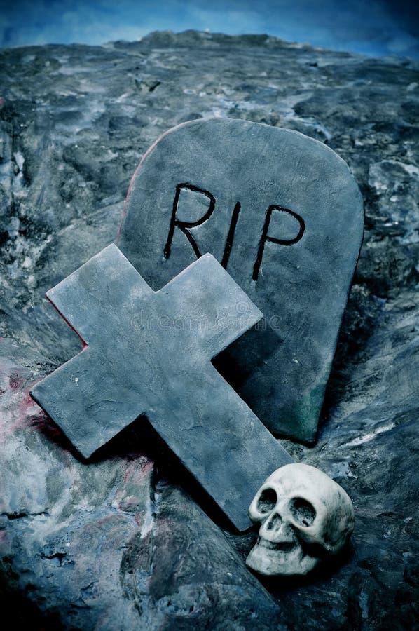 De graven van Halloween royalty-vrije stock foto
