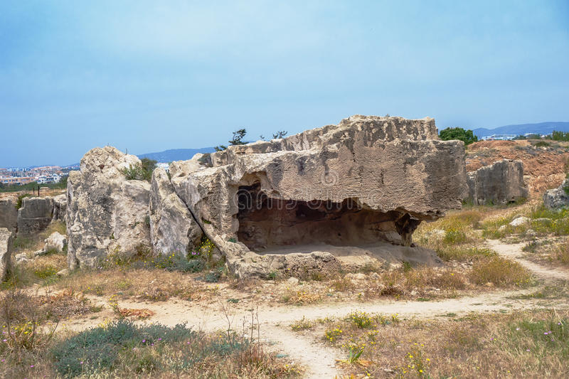 De Graven van de Koningen, Paphos, Cyprus stock foto