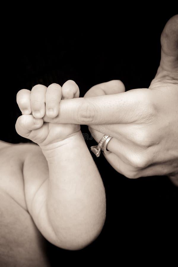De Greep van de baby stock foto's
