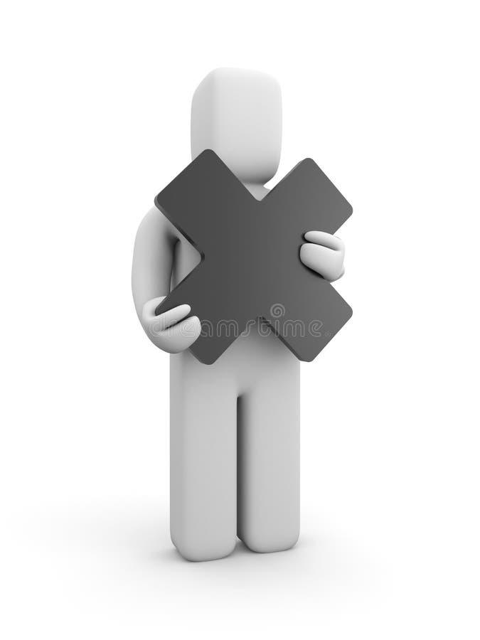 De greepkruis van de persoon stock illustratie