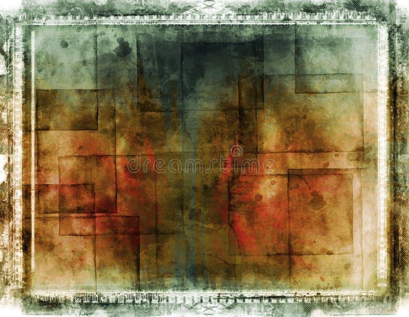 De grens en de achtergrond van Grunge royalty-vrije illustratie