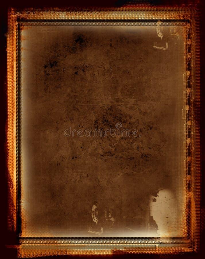 De grens en de achtergrond van Grunge stock illustratie