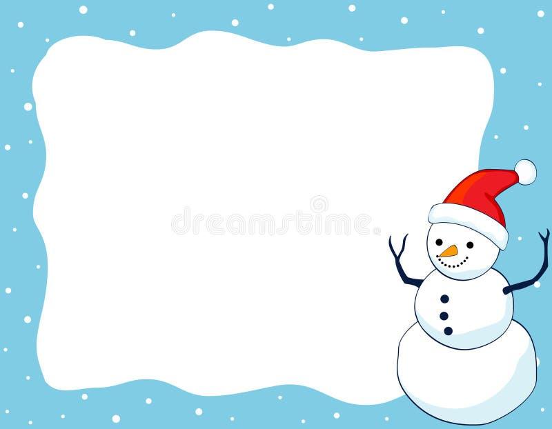 De grens/het frame van de sneeuwman stock illustratie