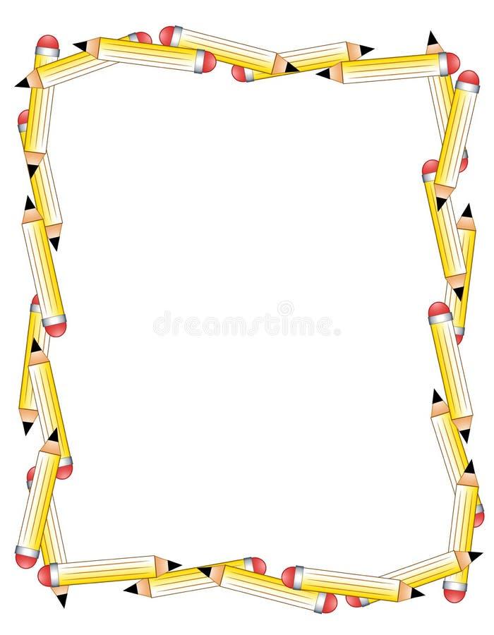 De Grens of het Frame van potloden stock illustratie