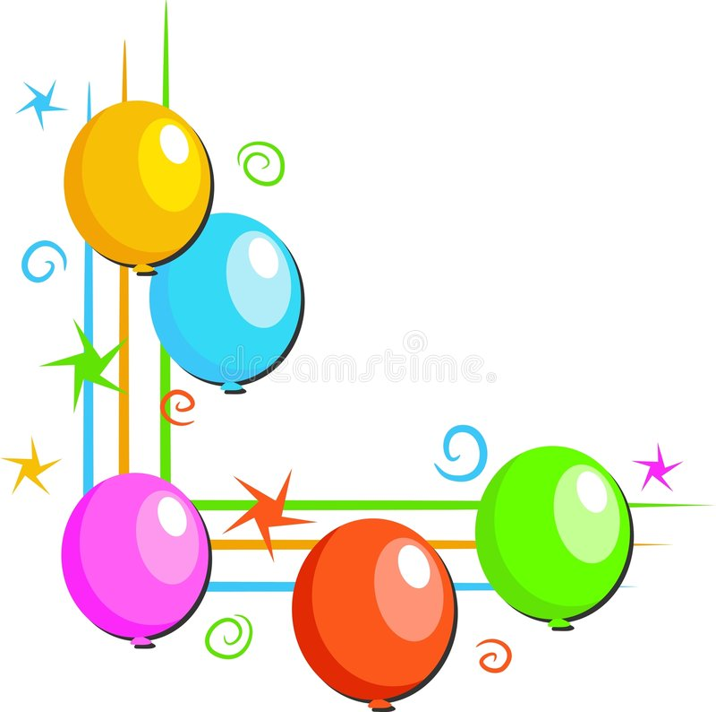 De Grens van ballons stock illustratie