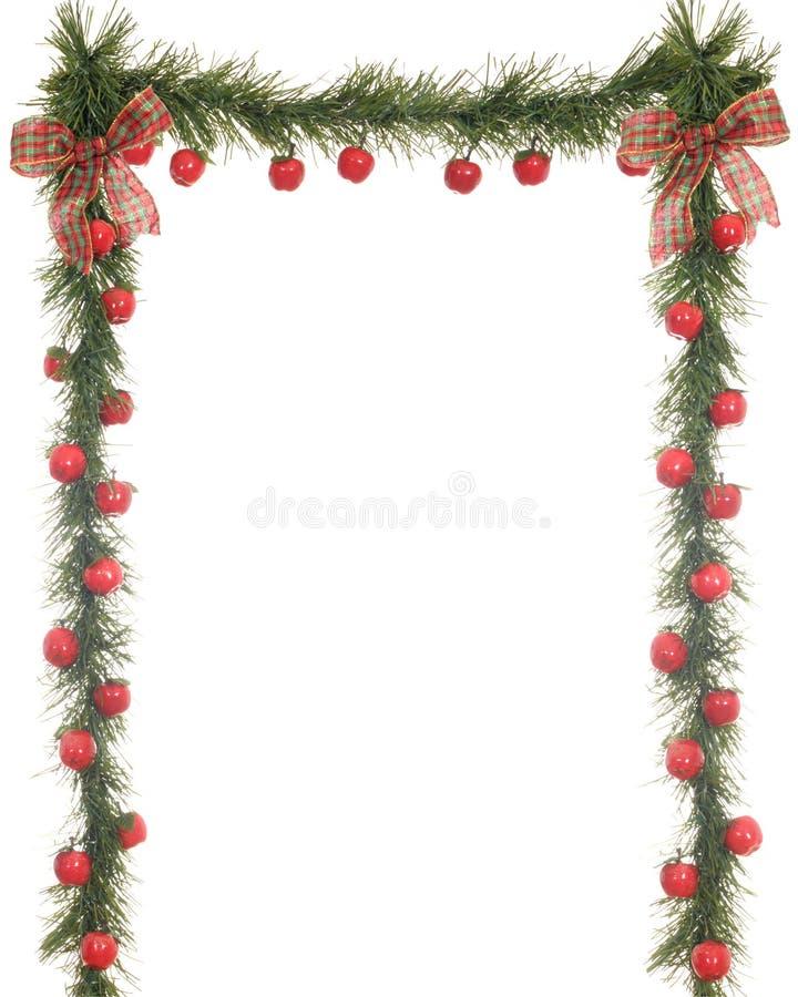 De Grens van de Appel van Kerstmis royalty-vrije stock afbeelding