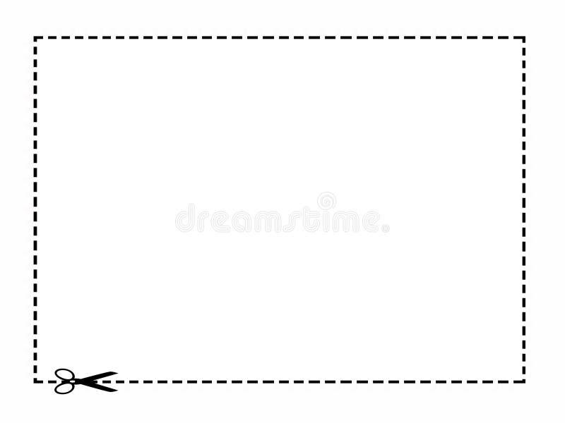 De Grens van de coupon vector illustratie