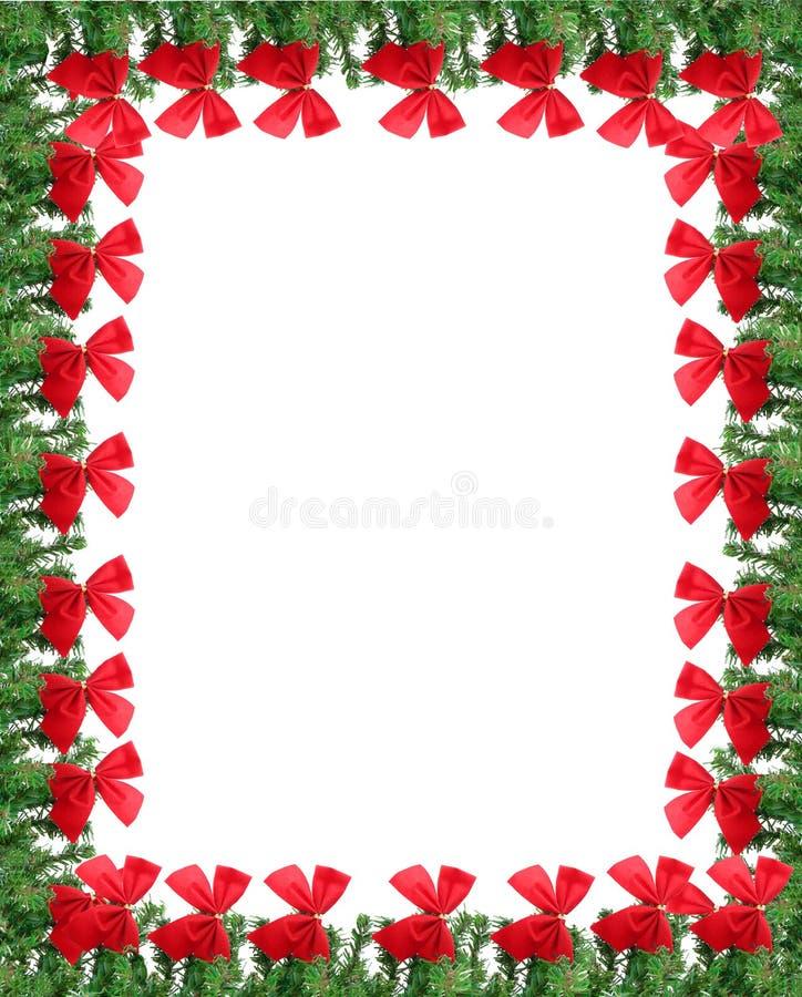 De grens van de de groetkaart van Kerstmis stock fotografie