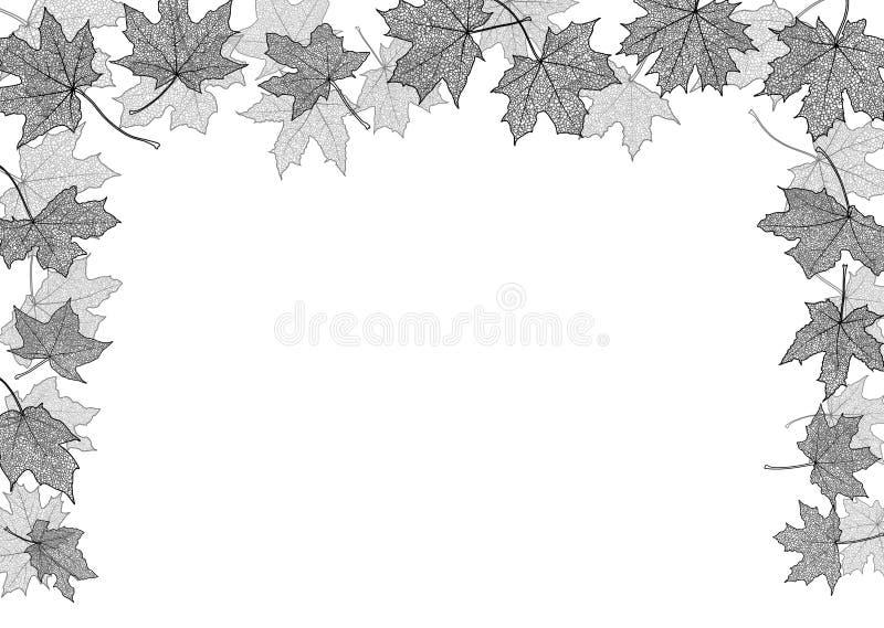 De Grens van de herfst Blauwe hemel royalty-vrije illustratie