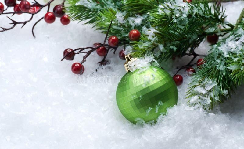 De grens van de kerstboom royalty-vrije stock foto's