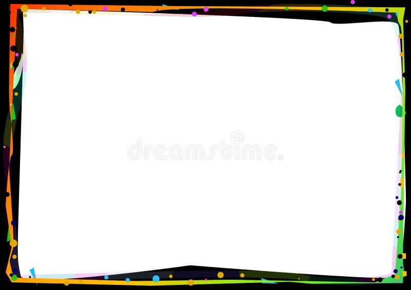 De grens van de kleur vector illustratie
