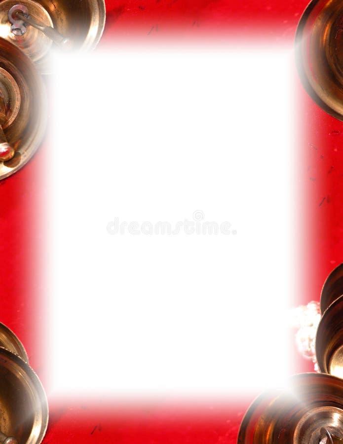 De Grens van de Klok van Kerstmis op Wit vector illustratie