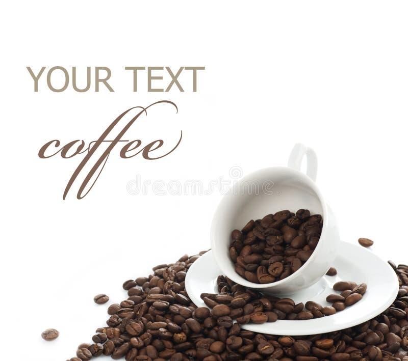 De grens van de koffie royalty-vrije stock fotografie
