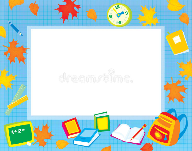 De grens van de school voor uw foto en tekst royalty-vrije illustratie