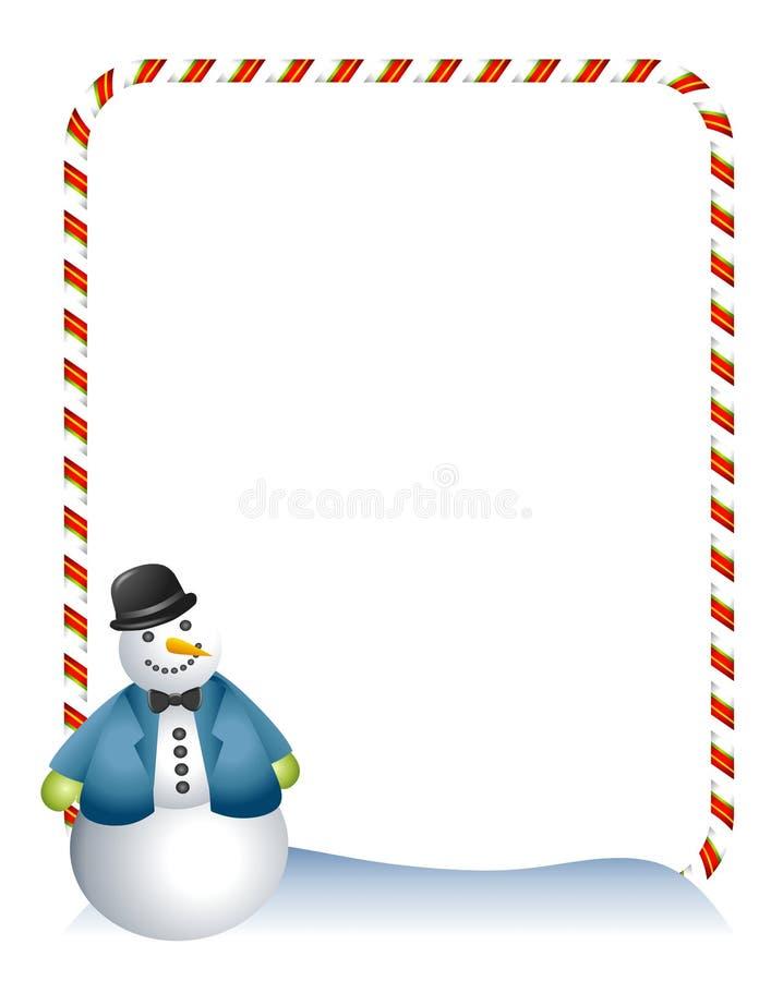 De Grens van de Sneeuwman van het Riet van het suikergoed royalty-vrije illustratie