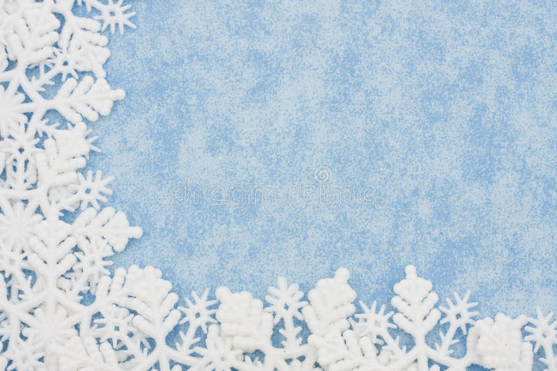 De Grens van de sneeuwvlok stock afbeelding