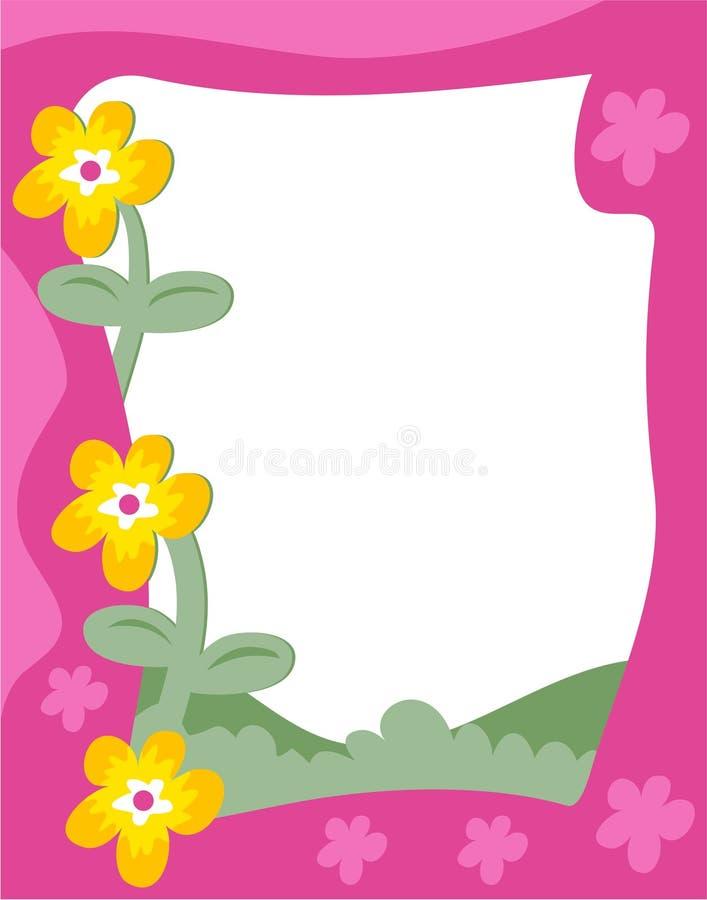 De Grens van de tuin stock illustratie