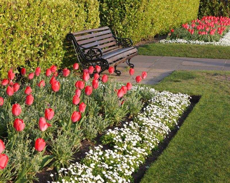 De Grens van de Tuin van de lente royalty-vrije stock foto