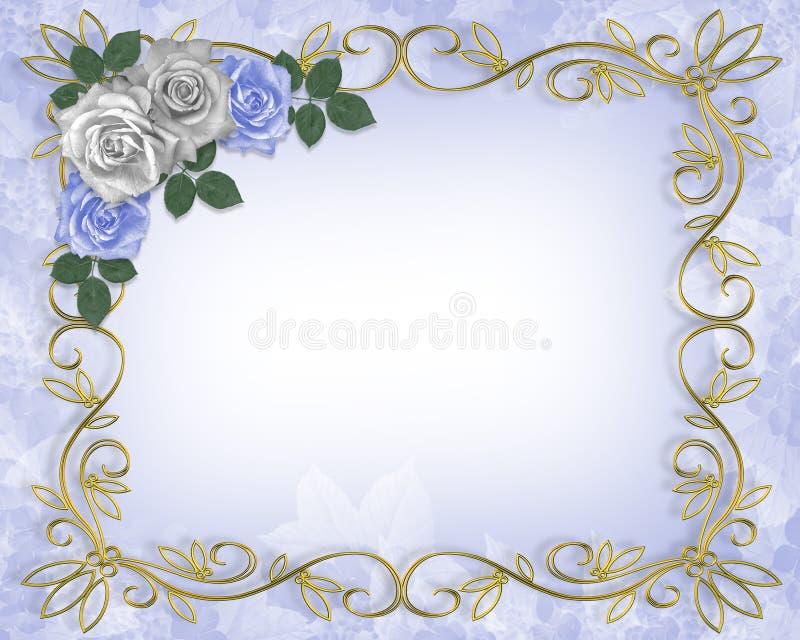 De Grens van de Uitnodiging van het huwelijk stock illustratie