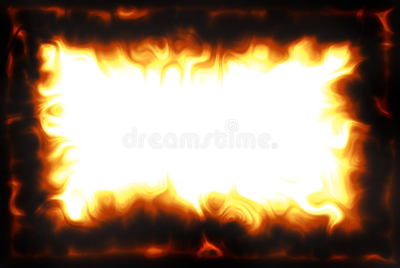 De Grens van de vlam royalty-vrije illustratie