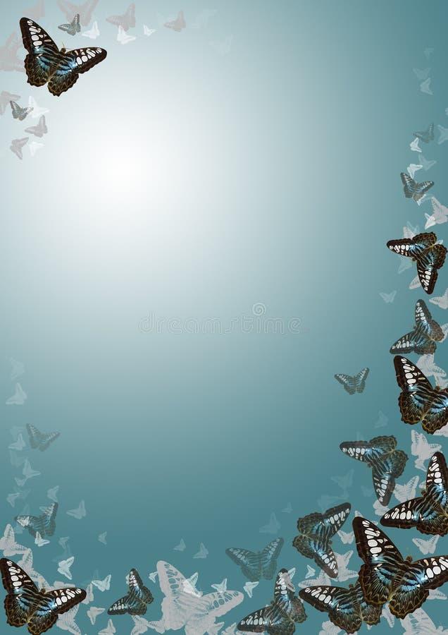 De grens van de vlinder royalty-vrije illustratie