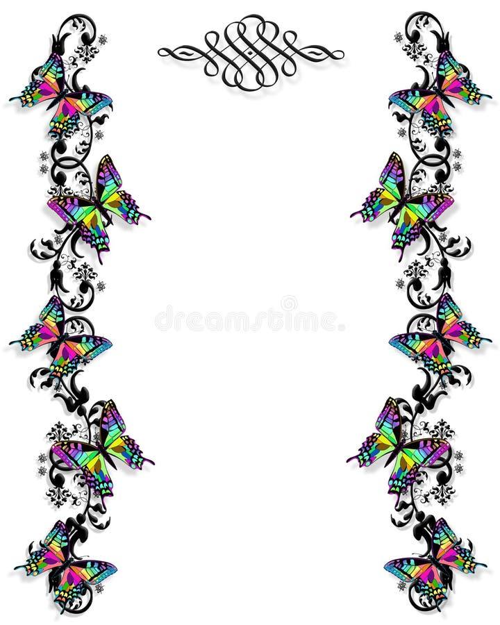 De Grens van de vlinder   vector illustratie