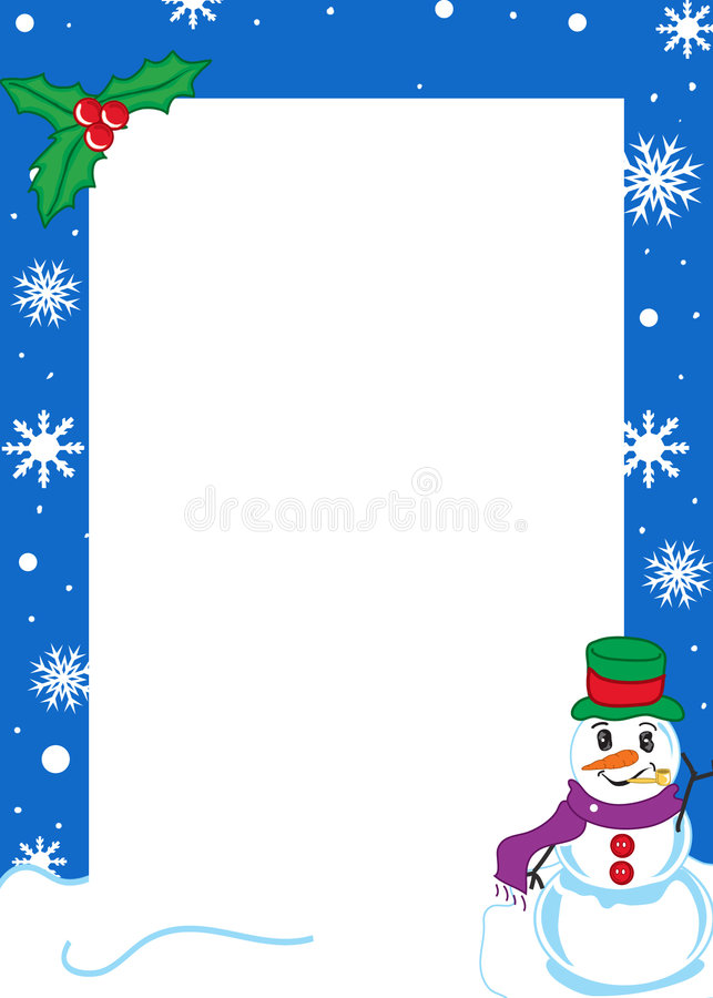 De grens van de winter vector illustratie