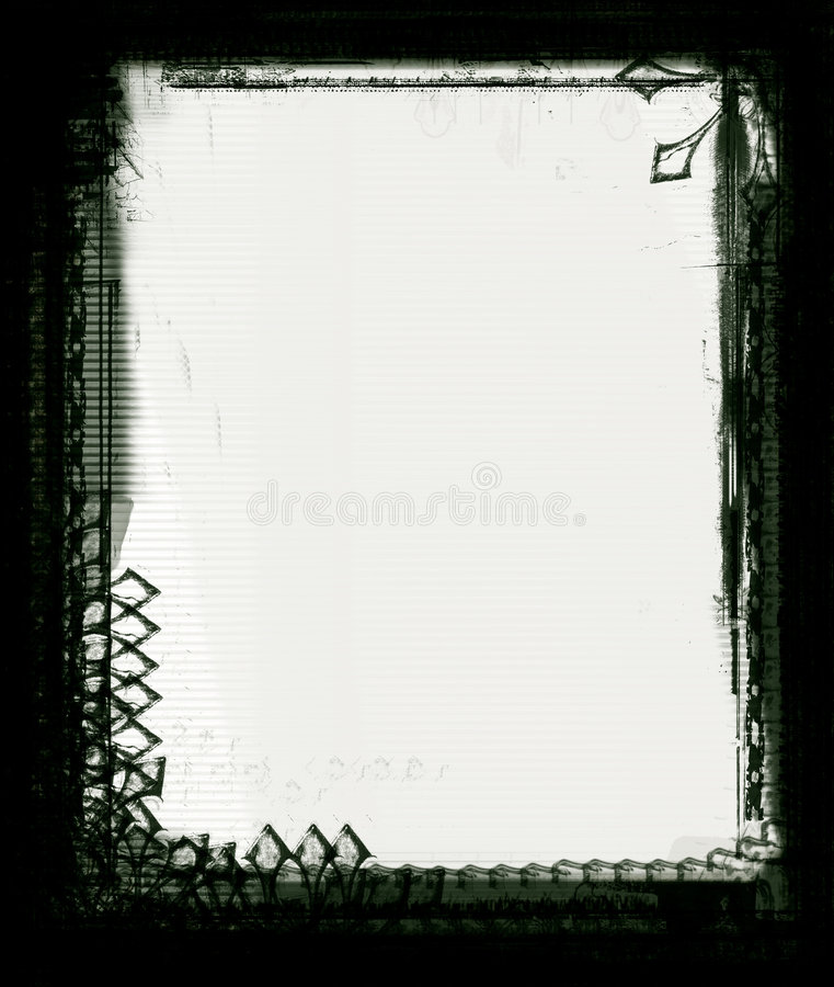 De grens van Grunge stock illustratie