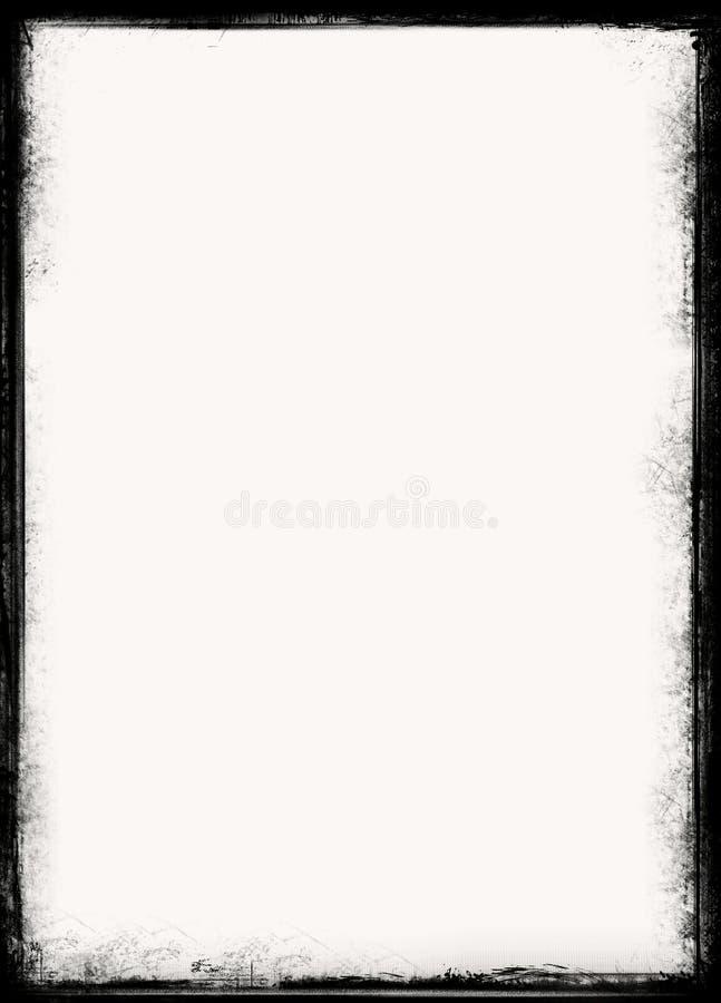 De grens van Grunge stock foto's