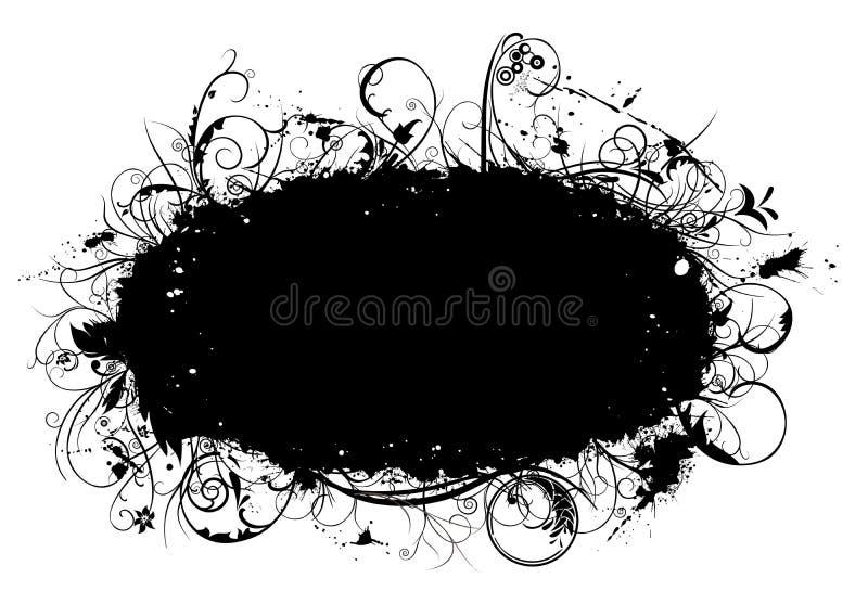 De grens van Grunge met ornamenten vector illustratie