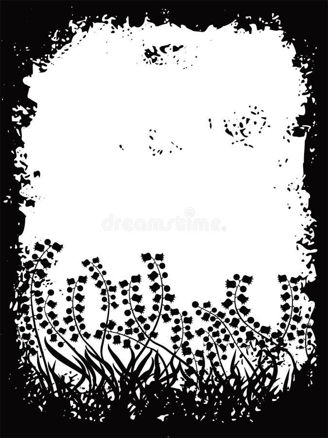 De grens van Grunge, vector royalty-vrije illustratie
