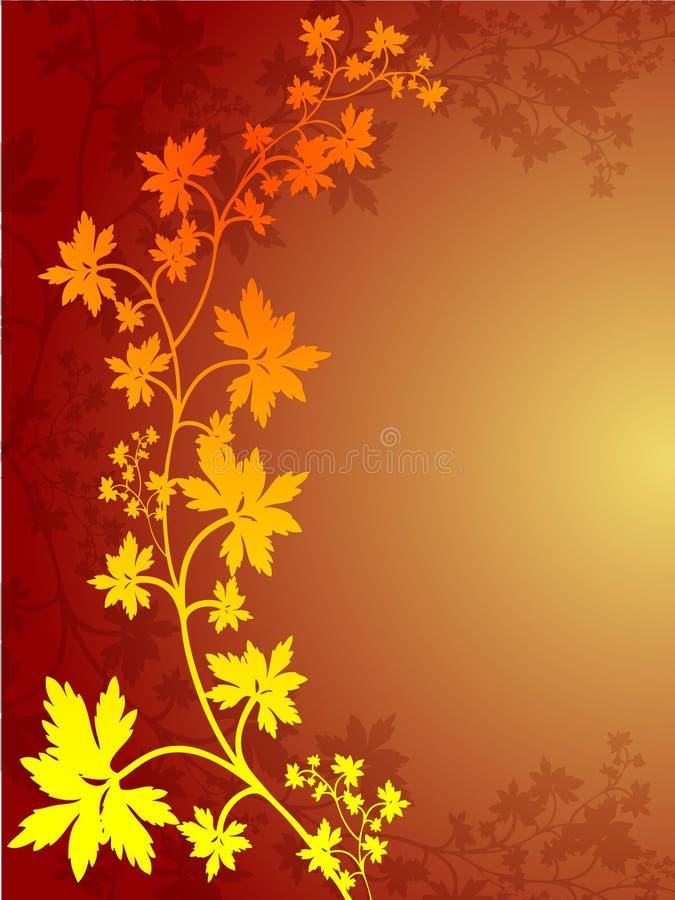 De Grens van het Blad van de herfst royalty-vrije illustratie